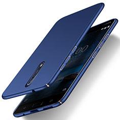 Schutzhülle Kunststoff Tasche Matt für Nokia 8 Blau