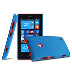 Schutzhülle Kunststoff Tasche Matt für Nokia Lumia 525 Blau