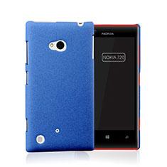 Schutzhülle Kunststoff Tasche Matt für Nokia Lumia 720 Blau
