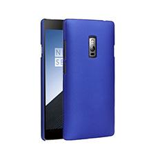 Schutzhülle Kunststoff Tasche Matt für OnePlus 2 Blau