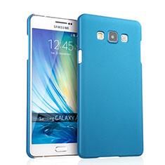 Schutzhülle Kunststoff Tasche Matt für Samsung Galaxy A7 SM-A700 Hellblau