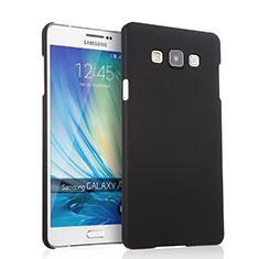 Schutzhülle Kunststoff Tasche Matt für Samsung Galaxy A7 SM-A700 Schwarz
