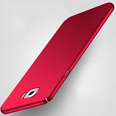 Schutzhülle Kunststoff Tasche Matt für Samsung Galaxy C7 Pro C7010 Rot