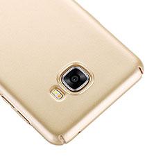 Schutzhülle Kunststoff Tasche Matt für Samsung Galaxy C7 SM-C7000 Gold