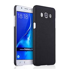 Schutzhülle Kunststoff Tasche Matt für Samsung Galaxy J5 Duos (2016) Schwarz