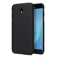 Schutzhülle Kunststoff Tasche Matt für Samsung Galaxy J5 Pro (2017) J530Y Schwarz
