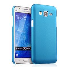 Schutzhülle Kunststoff Tasche Matt für Samsung Galaxy J5 SM-J500F Hellblau