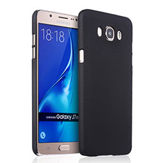 Schutzhülle Kunststoff Tasche Matt für Samsung Galaxy J7 (2016) J710F J710FN Schwarz