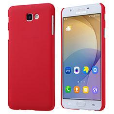 Schutzhülle Kunststoff Tasche Matt für Samsung Galaxy J7 Prime Rot