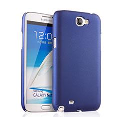 Schutzhülle Kunststoff Tasche Matt für Samsung Galaxy Note 2 N7100 N7105 Blau