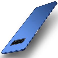 Schutzhülle Kunststoff Tasche Matt für Samsung Galaxy Note 8 Blau