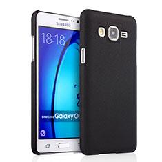 Schutzhülle Kunststoff Tasche Matt für Samsung Galaxy On5 Pro Schwarz