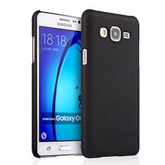 Schutzhülle Kunststoff Tasche Matt für Samsung Galaxy On7 G600FY Schwarz