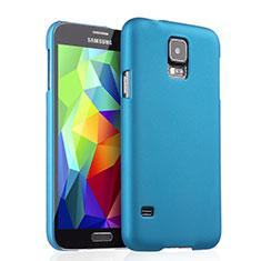 Schutzhülle Kunststoff Tasche Matt für Samsung Galaxy S5 G900F G903F Hellblau