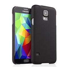 Schutzhülle Kunststoff Tasche Matt für Samsung Galaxy S5 G900F G903F Schwarz