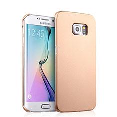 Schutzhülle Kunststoff Tasche Matt für Samsung Galaxy S6 Edge SM-G925 Gold