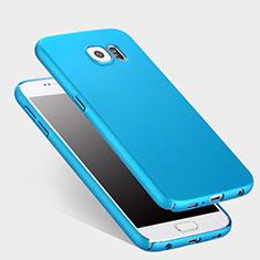 Schutzhülle Kunststoff Tasche Matt für Samsung Galaxy S6 SM-G920 Hellblau