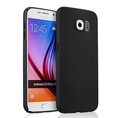 Schutzhülle Kunststoff Tasche Matt für Samsung Galaxy S6 SM-G920 Schwarz