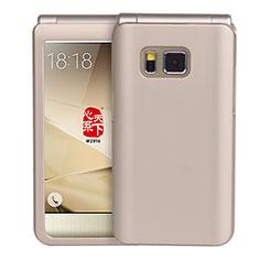 Schutzhülle Kunststoff Tasche Matt für Samsung W(2016) Gold