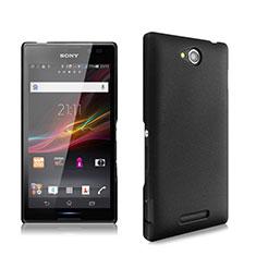 Schutzhülle Kunststoff Tasche Matt für Sony Xperia C S39h Schwarz