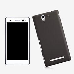 Schutzhülle Kunststoff Tasche Matt für Sony Xperia C3 Schwarz