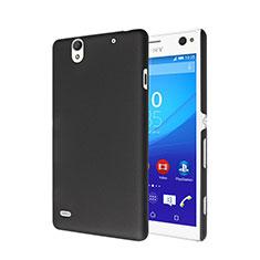 Schutzhülle Kunststoff Tasche Matt für Sony Xperia C4 Schwarz