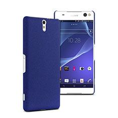 Schutzhülle Kunststoff Tasche Matt für Sony Xperia C5 Ultra Blau