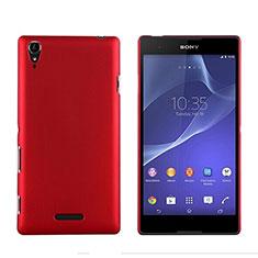 Schutzhülle Kunststoff Tasche Matt für Sony Xperia T3 Rot