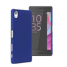 Schutzhülle Kunststoff Tasche Matt für Sony Xperia X Performance Dual Blau