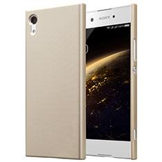 Schutzhülle Kunststoff Tasche Matt für Sony Xperia XA1 Gold