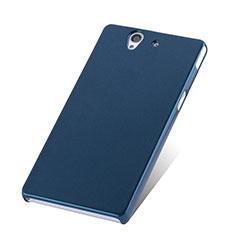 Schutzhülle Kunststoff Tasche Matt für Sony Xperia Z L36h Blau