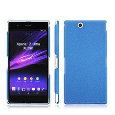 Schutzhülle Kunststoff Tasche Matt für Sony Xperia Z Ultra XL39h Blau