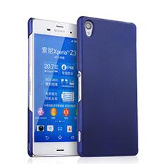 Schutzhülle Kunststoff Tasche Matt für Sony Xperia Z3 Blau