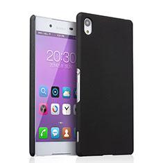 Schutzhülle Kunststoff Tasche Matt für Sony Xperia Z4 Schwarz