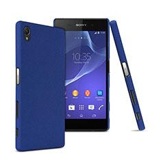 Schutzhülle Kunststoff Tasche Matt für Sony Xperia Z5 Premium Blau