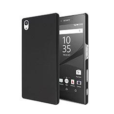 Schutzhülle Kunststoff Tasche Matt für Sony Xperia Z5 Schwarz