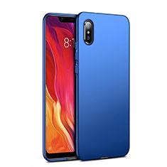 Schutzhülle Kunststoff Tasche Matt für Xiaomi Mi 8 Explorer Blau
