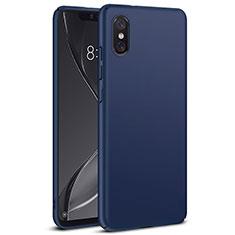 Schutzhülle Kunststoff Tasche Matt für Xiaomi Mi 8 Screen Fingerprint Edition Blau