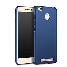 Schutzhülle Kunststoff Tasche Matt für Xiaomi Redmi 3 High Edition Blau