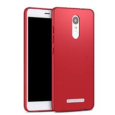 Schutzhülle Kunststoff Tasche Matt für Xiaomi Redmi Note 3 Rot