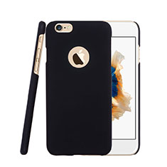 Schutzhülle Kunststoff Tasche Matt Loch für Apple iPhone 6S Plus Schwarz