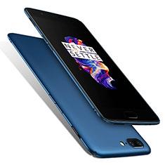 Schutzhülle Kunststoff Tasche Matt M01 für OnePlus 5 Blau