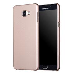 Schutzhülle Kunststoff Tasche Matt M01 für Samsung Galaxy A7 (2017) A720F Gold