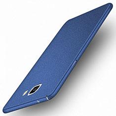 Schutzhülle Kunststoff Tasche Matt M01 für Samsung Galaxy A9 Pro (2016) SM-A9100 Blau