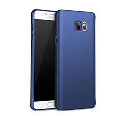 Schutzhülle Kunststoff Tasche Matt M01 für Samsung Galaxy Note 5 N9200 N920 N920F Blau