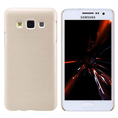 Schutzhülle Kunststoff Tasche Matt M02 für Samsung Galaxy A3 SM-300F Gold