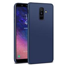 Schutzhülle Kunststoff Tasche Matt M02 für Samsung Galaxy A6 Plus (2018) Blau