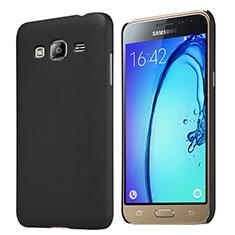 Schutzhülle Kunststoff Tasche Matt M02 für Samsung Galaxy Amp Prime J320P J320M Schwarz