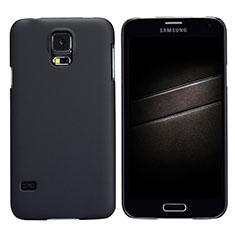 Schutzhülle Kunststoff Tasche Matt M02 für Samsung Galaxy S5 G900F G903F Schwarz