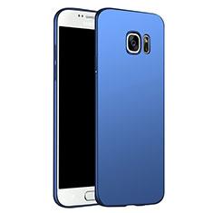 Schutzhülle Kunststoff Tasche Matt M02 für Samsung Galaxy S6 SM-G920 Blau